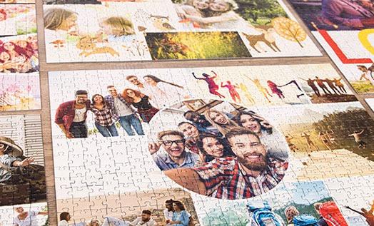 Koláž z fotek na puzzle
