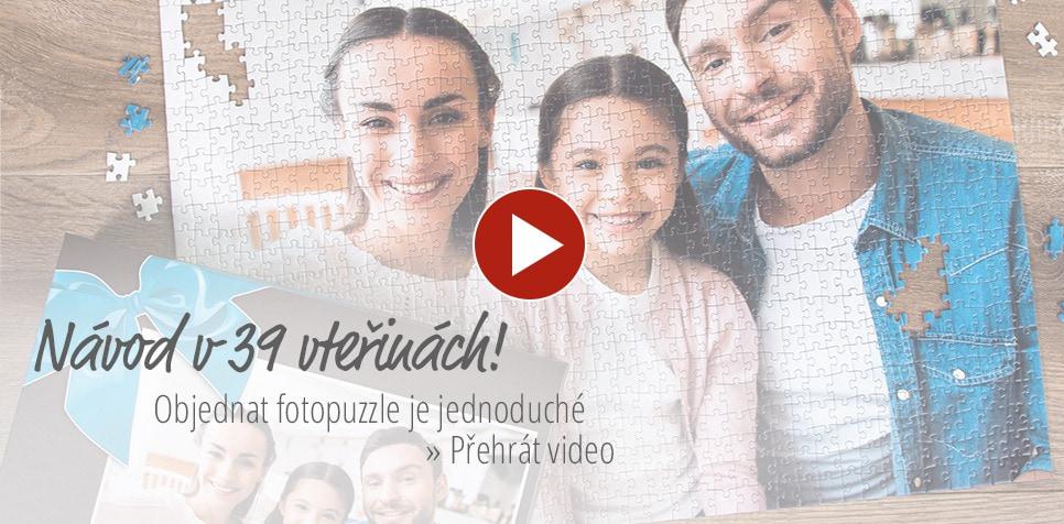 Objednávka puzzle z fotky ve videu