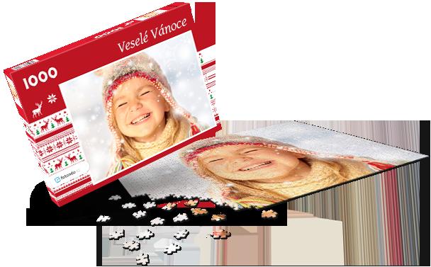 Krabička na puzzle - Vánoce I