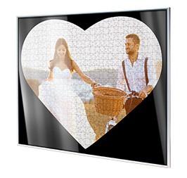 Puzzle-rámeček pro fotopuzzle ve tvaru srdce, Detail rohu