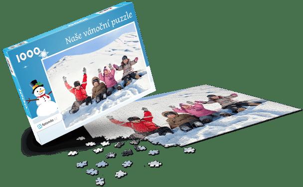 Krabička na puzzle - Vánoce II