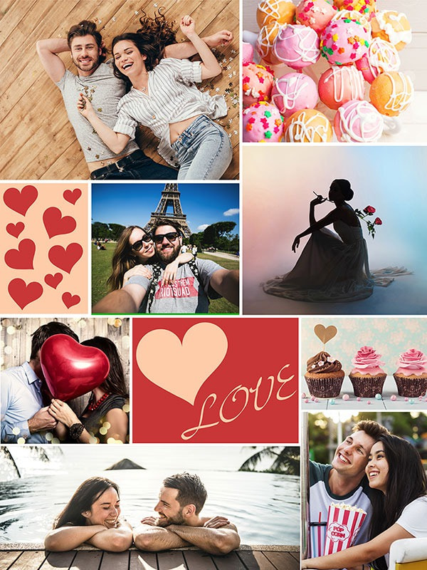 Photo Puzzle with Message collage 8 Photos