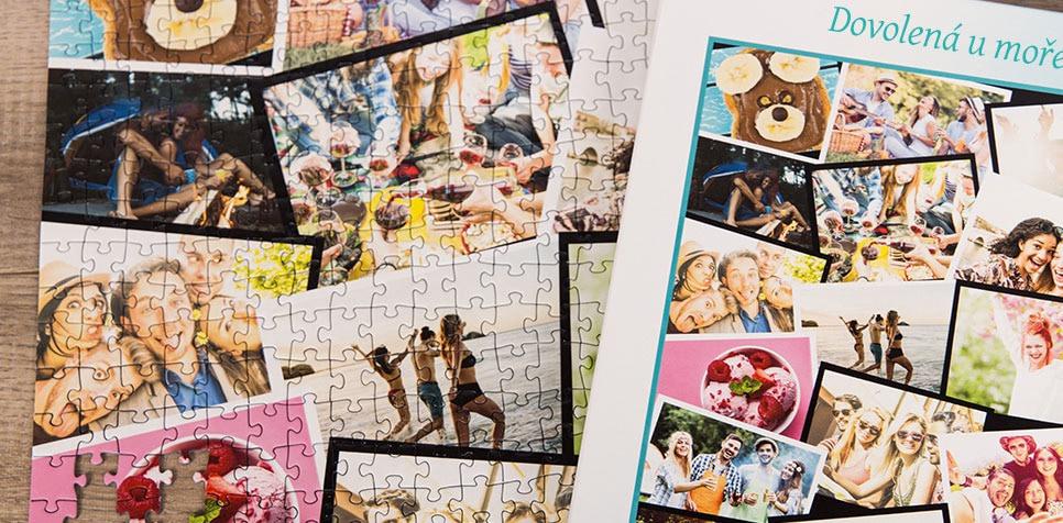 Puzzle z fotky jako koláž ve stylu Překrývajících se fotografií