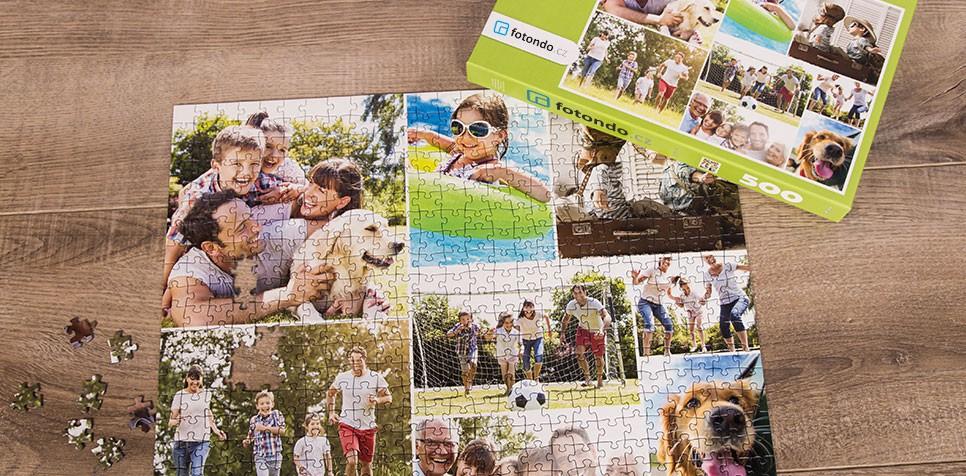 Puzzle z fotky jako koláž v Jednoduchém stylu
