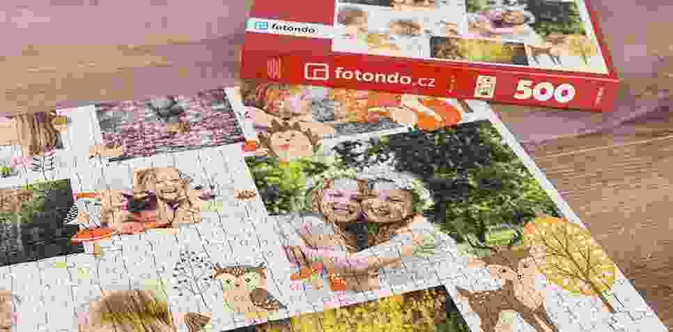 Puzzle z fotky jako koláž s Ilustrací