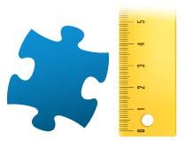 Poměr dílku puzzle puzzle z fotografie 100 dílků