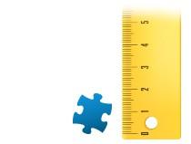 Poměr velikosti dílku puzzle z fotky 2000 dílků