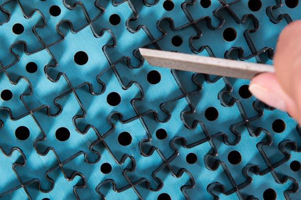 Špičková povrchová úprava puzzle
