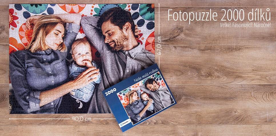 2000 dílků puzzle z fotografie