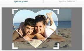 600 dílků puzzle z fotky, puzzle ve tvaru srdce