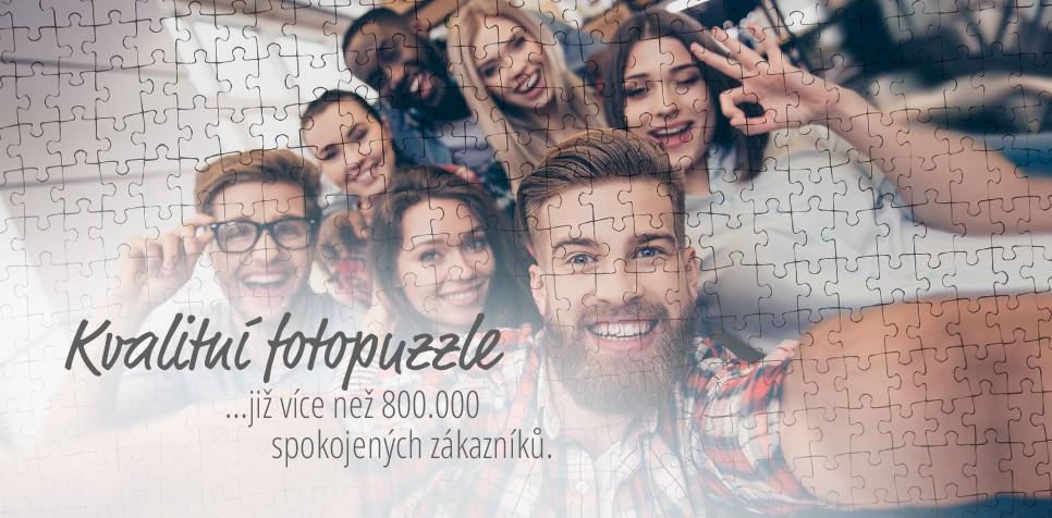 Puzzle z fotky: spokojení zákazníci